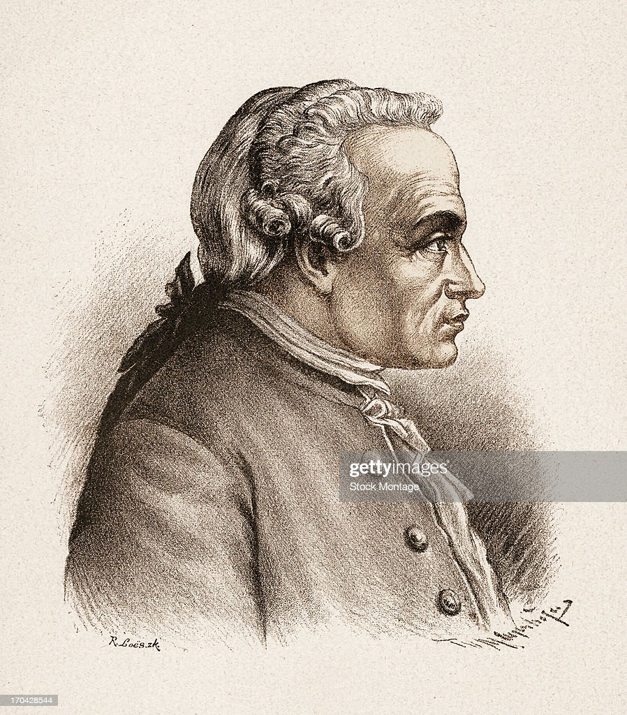 Portrait Of Immanuel Kant : News Photo