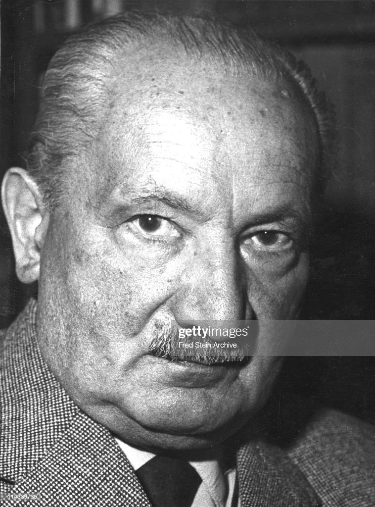Portrait Of Martin Heidegger : News Photo