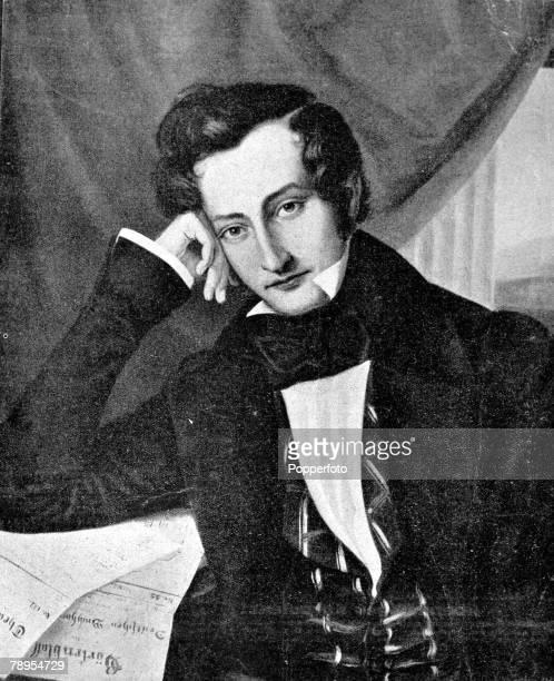 Portrait of German poet and essayist Heinrich Heine 1797 1856