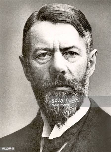 Portrait of German political economist and social scientist Max Weber a founder of the discipline of sociology who called himself 'The Enemy of the...