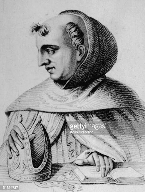 Portrait of German scholastic philosopher Albertus Magnus Also known as the Universal Doctor he was a strong influence on his favorite pupil St...