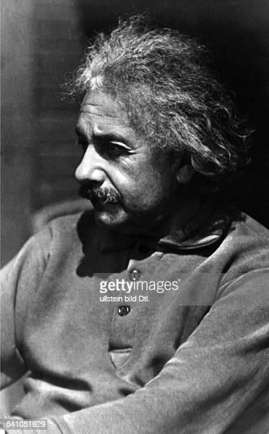 Portrait of German/American physicist Albert Einstein around 1931