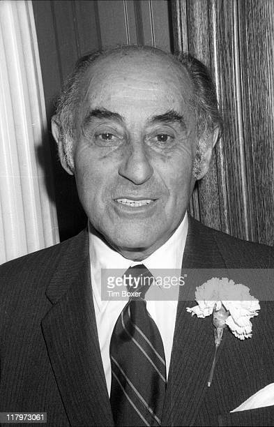 Portrait of German-born American photographer Alfred Eisenstaedt at an anniversary party for People Magazine held at the Hippopotamus nightclub, New...