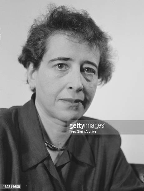 Portrait of Germanborn American political theorist and author Hannah Arendt 1949