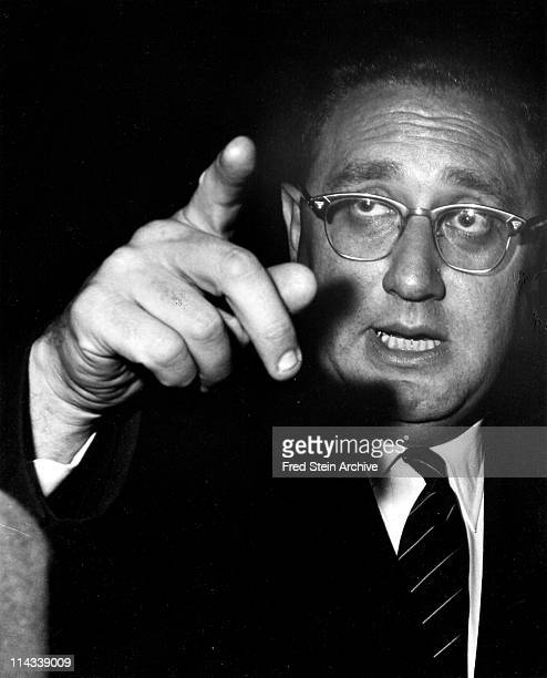 Portrait of Germanborn American politician diplomat and US Secretary of State Henry Kissinger 1963