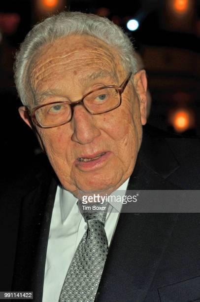 Portrait of Germanborn American statesman Henry Kissinger during a World Jewish Congress dinner at the WaldorfAstoria hotel New York New York...