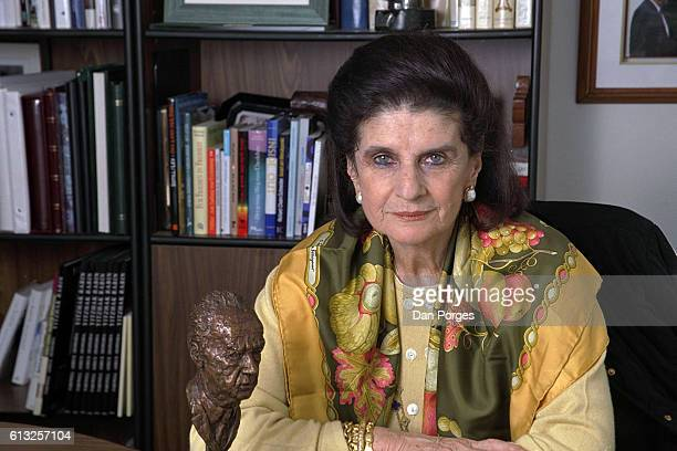 Portrait of German-born Israeli peace activist Leah Rabin , Tel Aviv, Israel, January 27, 1999. She was the widow of former Israeli Prime Minister...