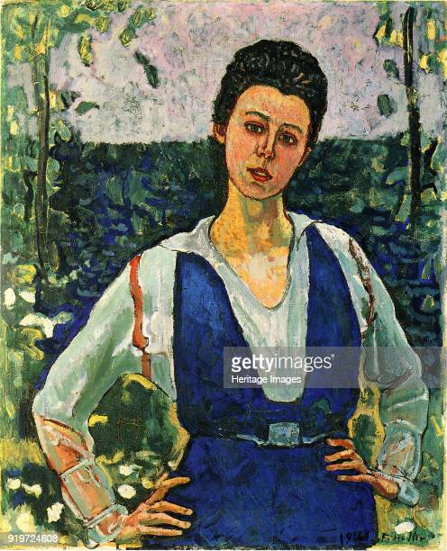 Portrait of Gertrud Müller in the garden 1916 Found in the Collection of Kunstmuseum Solothurn