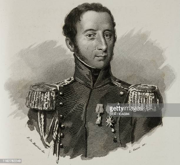 Portrait of Giacinto Lonati Italian soldier engraving by Guzzi after a drawing by De Martino from Vite dei primarj marescialli e generali che ebbero...
