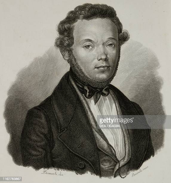 Portrait of Giacomo Lombroso Italian writer engraving by Bucinelli after a drawing by Demarchi from Vite dei primarj marescialli e generali che...