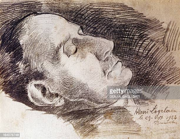 Portrait of Giacomo Puccini on his deathbed on November 29 drawing by Henry Loyelovin Torre Del Lago Puccini Museo Villa Puccini