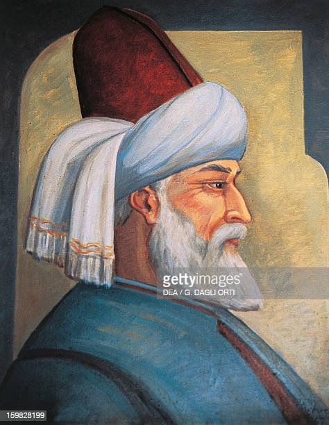 Portrait of Gialal al-Din Rumi , Persian poet and mystic, founder of the Sufi brotherhood of the whirling dervishes.