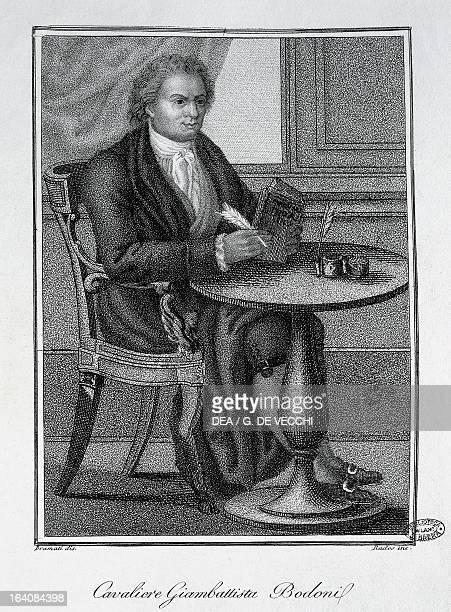 Portrait of Giambattista Bodoni Italian printer publisher and engraver Milan Biblioteca Nazionale Braidense