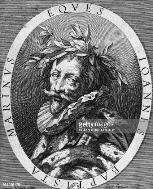 Portrait of Giambattista Marino Italian poet engraving by Johann Friedrich Greuter after a drawing by Simon Vouet