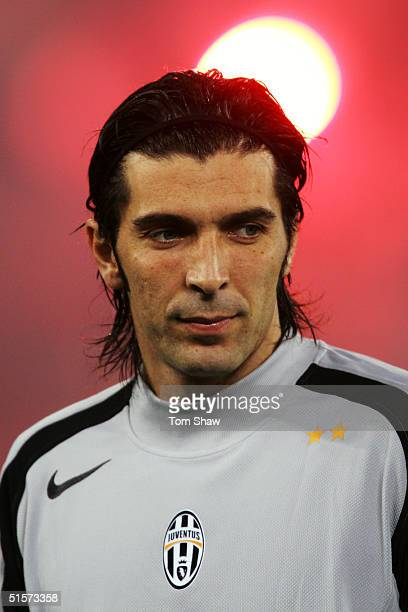 A portrait of Gianluigi Buffon of Juventus prior to the Champions League Group C match between Juventus and Bayern Munich in the Stadio Delle Alpi on...