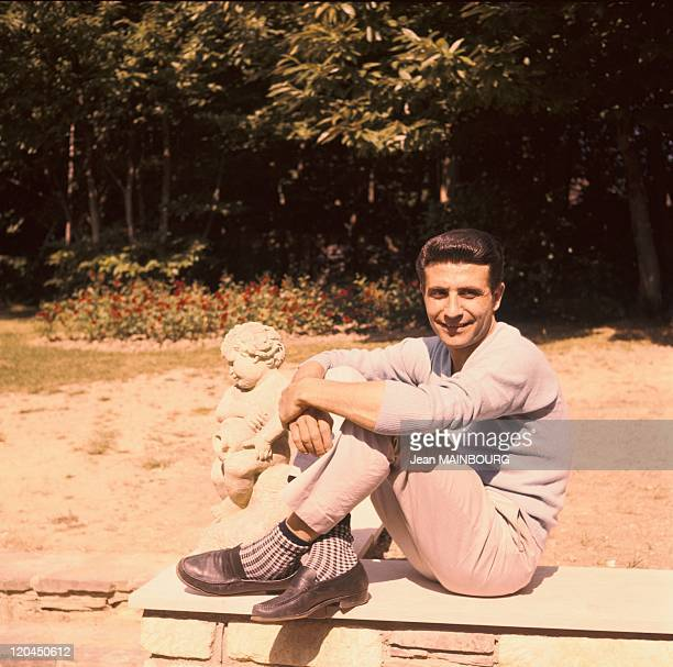 Portrait of Gilbert Becaud in France in the 1960s