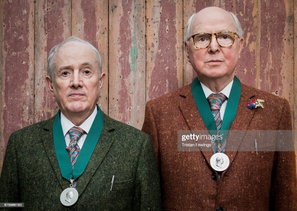 Gilbert & George Recieve Their Medals At The Royal Academy Of Arts