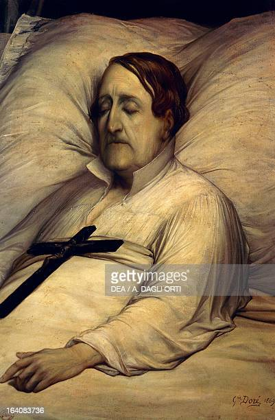 Portrait of Gioachino Rossini on his deathbed Italian composer Drawing by Paul Gustave Dore 1869 Pesaro Casa Rossini