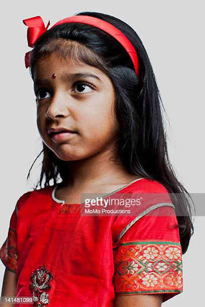 portrait of girl, 4 yrs, indian descent