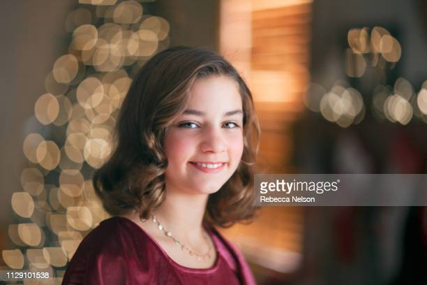 Portrait of girl at Christmas
