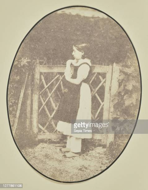 Portrait of girl at gate; Hippolyte Bayard ; about 1840–1849; Salted paper print; 15.1 × 11.5 cm .