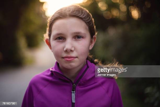 Portrait of girl at sunset