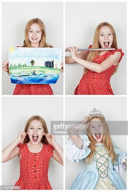 portrait of girl having fun - diadema copricapo foto e immagini stock