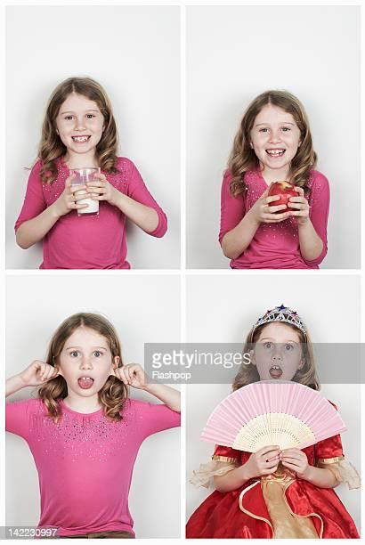 Portrait of girl having fun