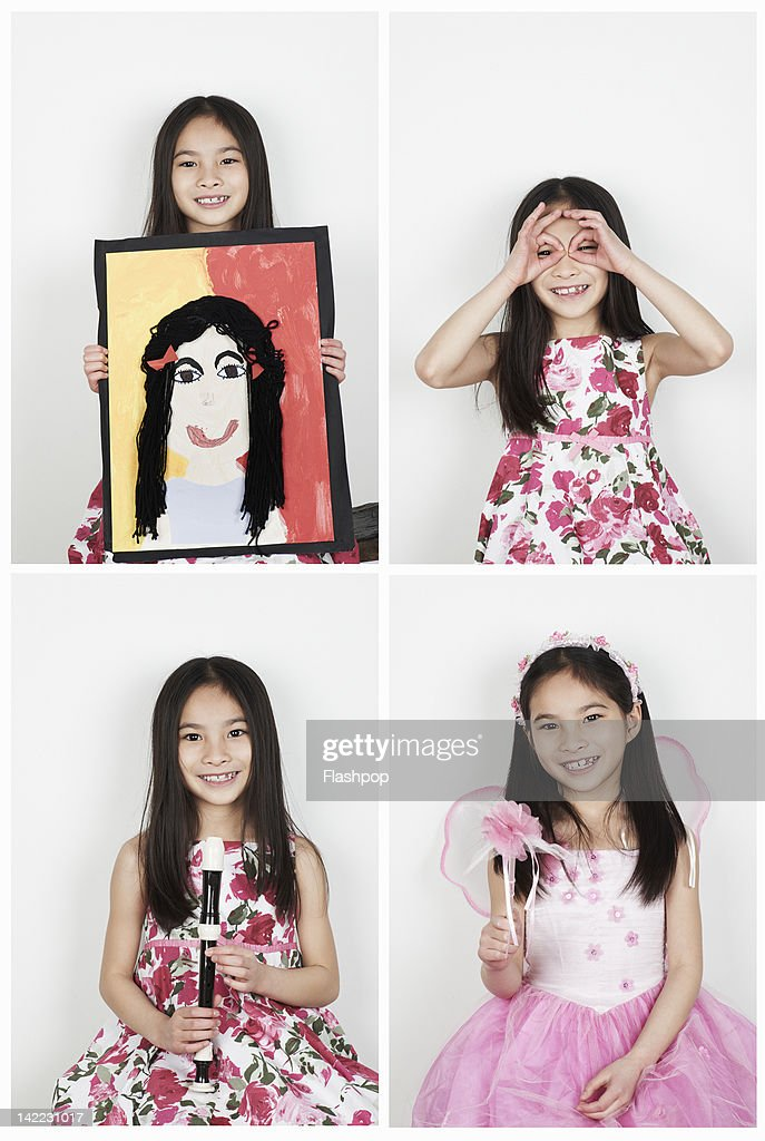 Portrait of girl having fun : Stock Photo