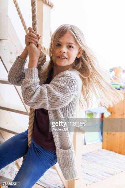 Portrait of girl in childrens room