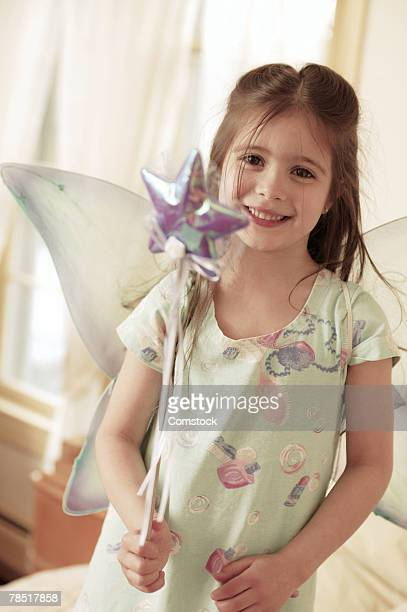 Portrait of girl in fairy costume