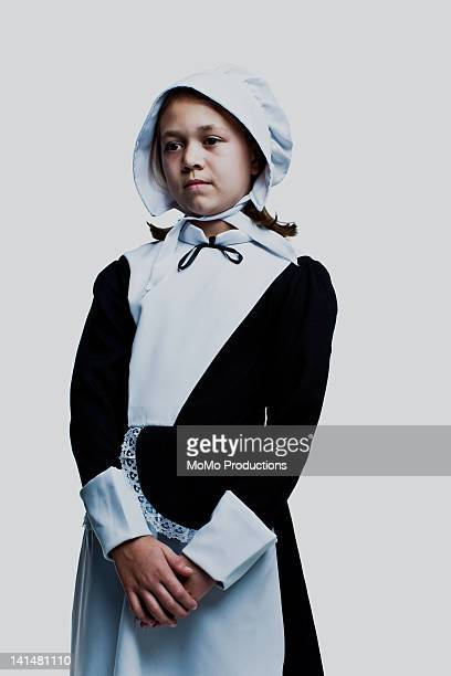 portrait of girl in pioneer dress