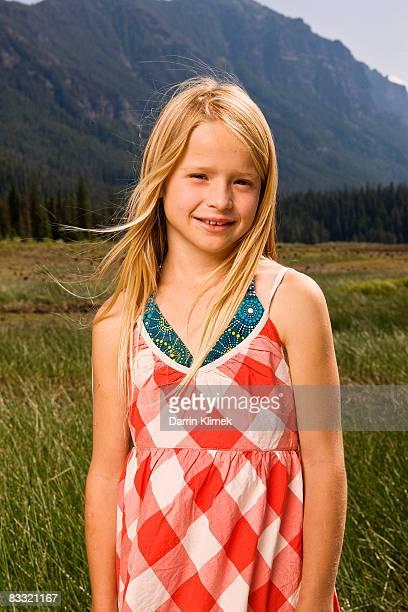 Portrait of girl in valley