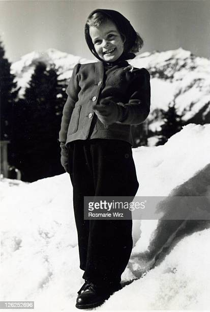 portrait of girl in winter, switzerland - 1947 stock pictures, royalty-free photos & images