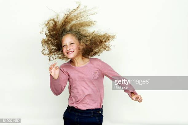 Portrait of girl jumping