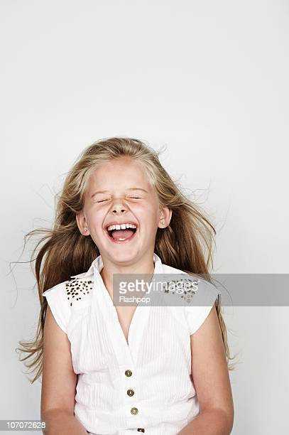 Portrait of girl laughing