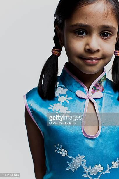 portrait of girl of indian descent