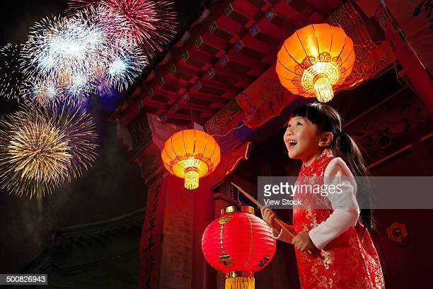 portrait of girl on chinese new year - traditional clothing stock pictures, royalty-free photos & images