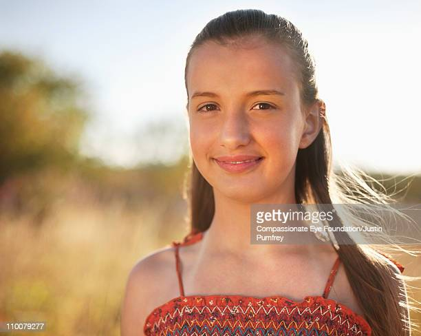 "portrait of girl outdoors - ""compassionate eye"" stock-fotos und bilder"