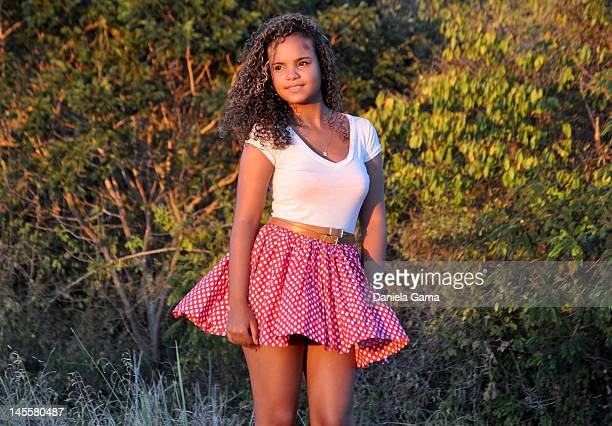 portrait of girl - brazilian girls stock photos and pictures