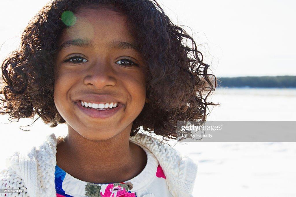 Portrait of girl (10-12) : Foto de stock