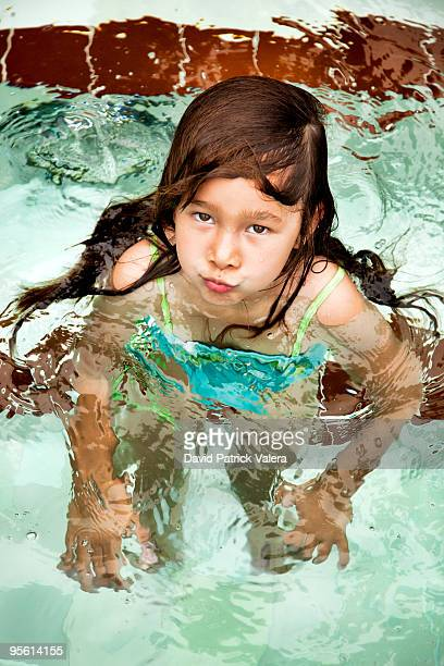portrait of  girl - girls in hot tub stock photos and pictures