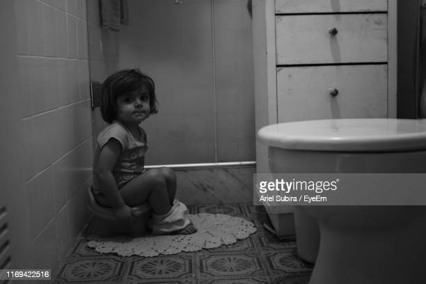 Little Girl With Toilet Paper High-Res Stock Photo - Getty