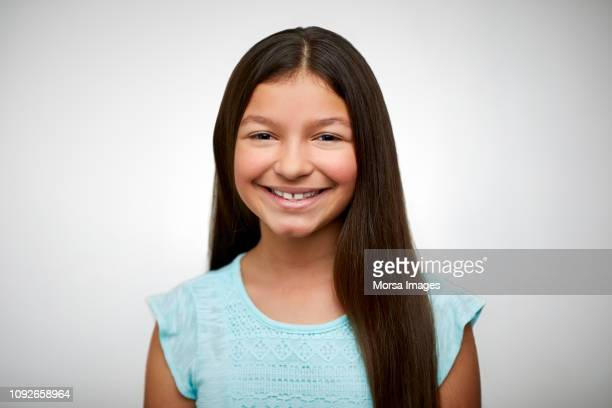 portrait of girl smiling on white background - 11 stock pictures, royalty-free photos & images