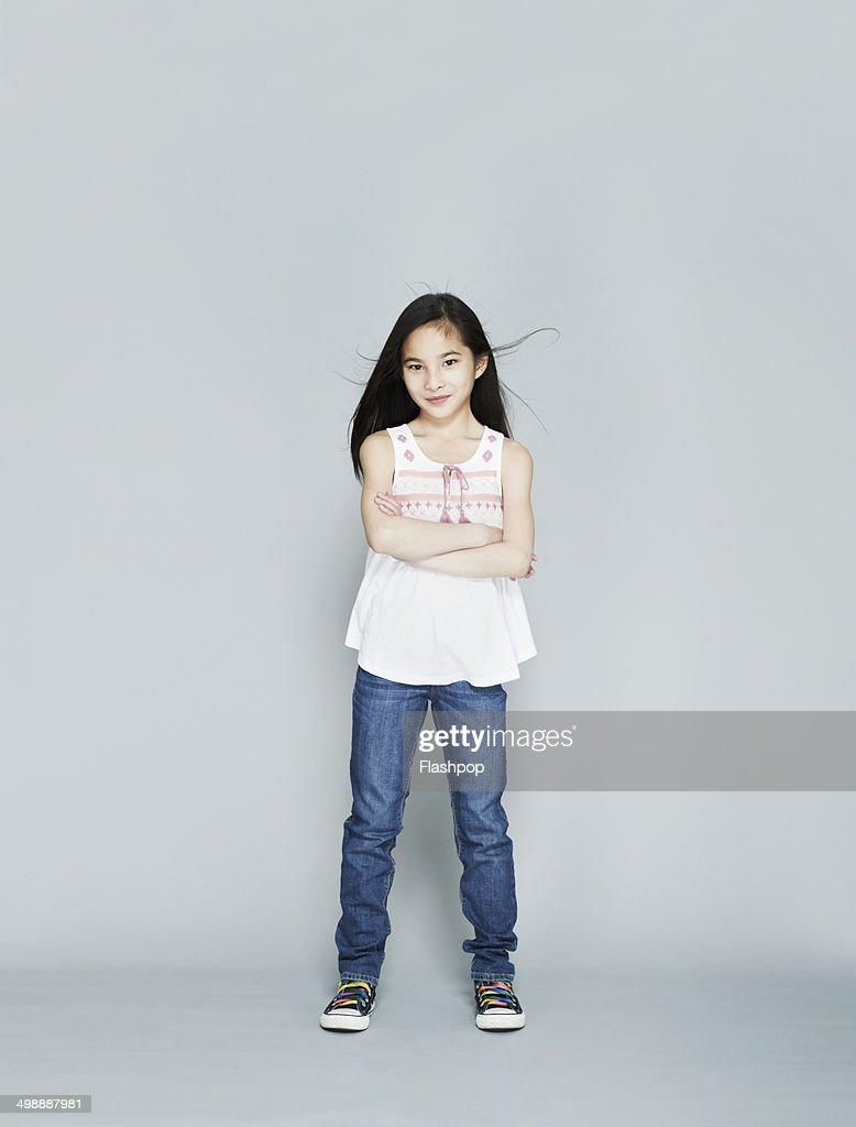Portrait of girl smiling : Stock Photo
