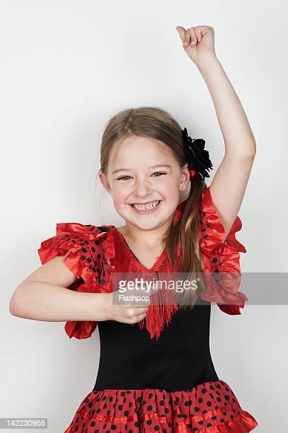 Portrait of girl wearing fancy dress