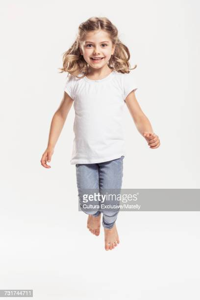 Portrait of girl, white background
