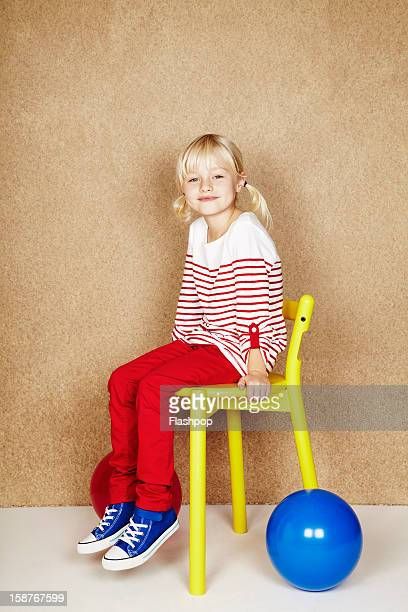 Portrait of girl with balloons