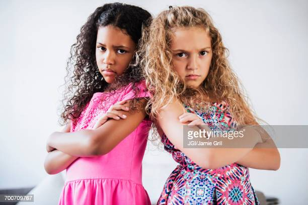Portrait of girls with attitude