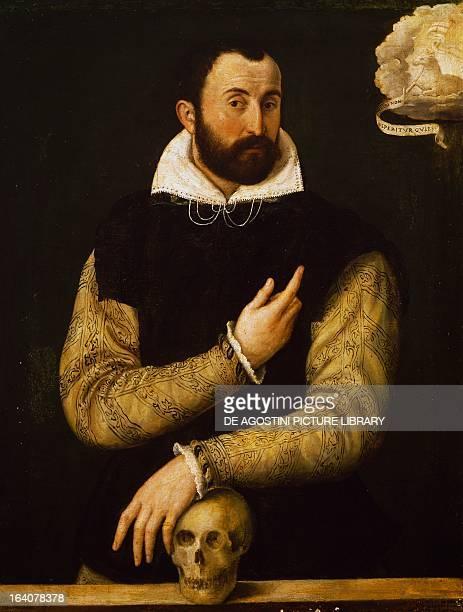 Portrait of Girolamo Rossi Italian doctor philosopher and historian by Luca Longhi painting Ravenna Pinacoteca Comunale